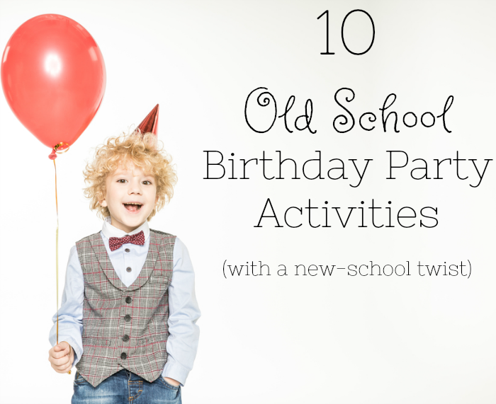 These are awesome home based birthday party activities for preschoolers. Just like when we were kids!