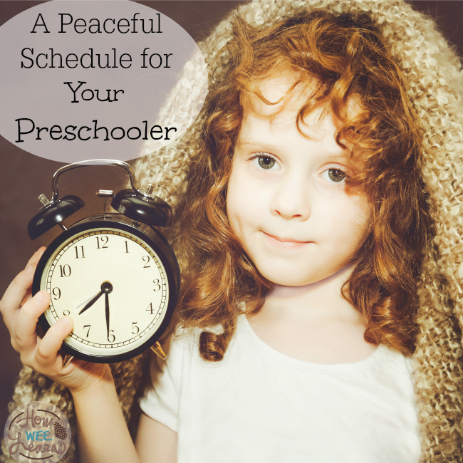 Creating a peaceful schedule for kids