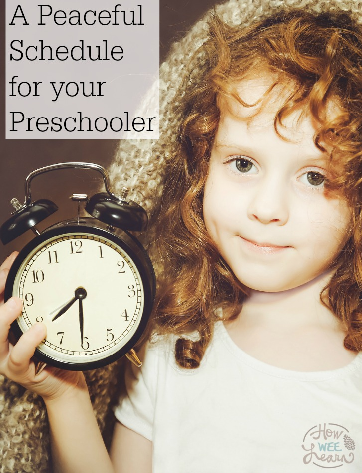 Creating a schedule for preschoolers