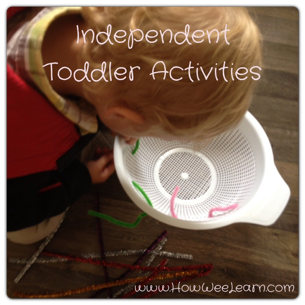 Independent Toddler Activities #howweelearn #quiettime #independentplay #preschoolactivities #preschoollearning