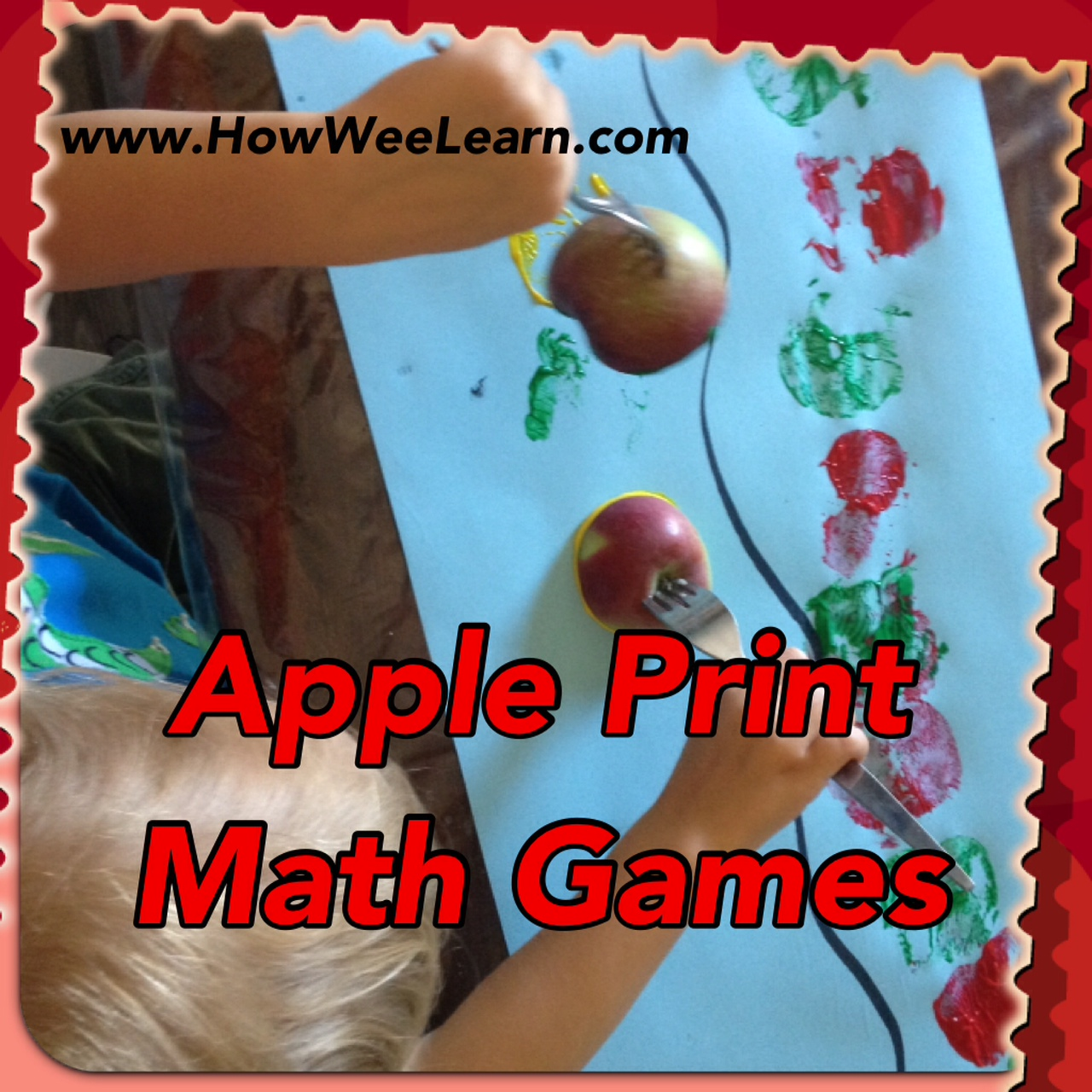 Math Games: Apple Print Math - How Wee Learn