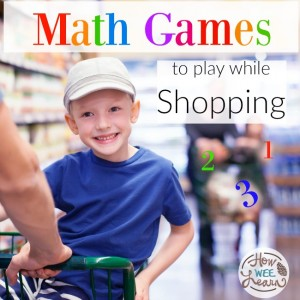 Keep those preschoolers busy and learning math while shopping!