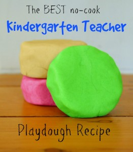 Kindergarten teacher playdough recipe