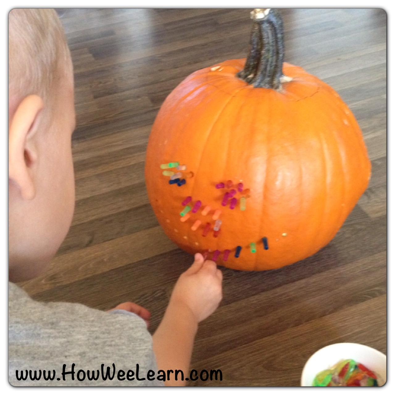 Lite-Brite Pumpkin Carving - How Wee Learn