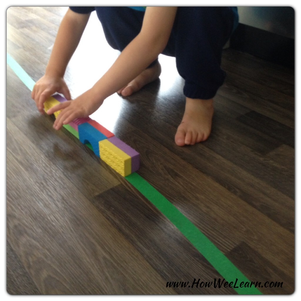 building a bridge for toy trucks
