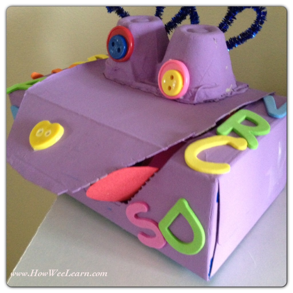 Such fun alphabet activities for kids! This letter monster makes for such fun alphabet games.