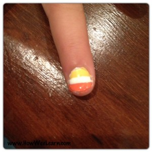 Halloween Nail Art Candy Corn