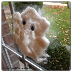 Halloween Party crafts sensory ghosts