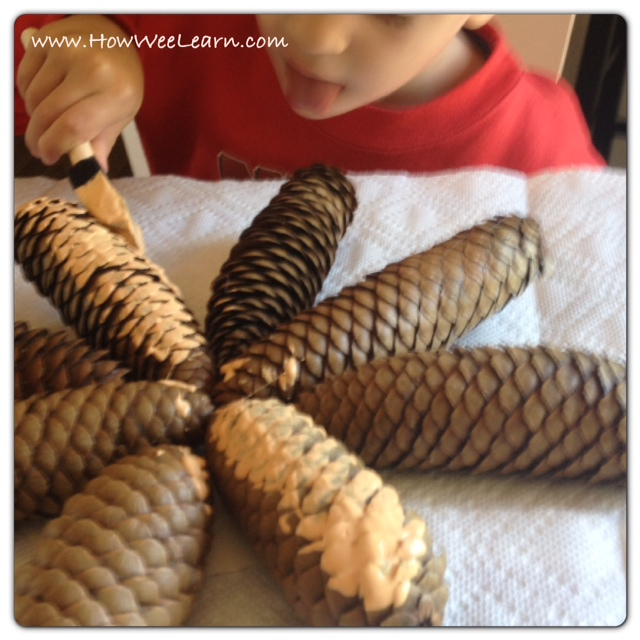 not so spooky pine cone crafts and matching poems how
