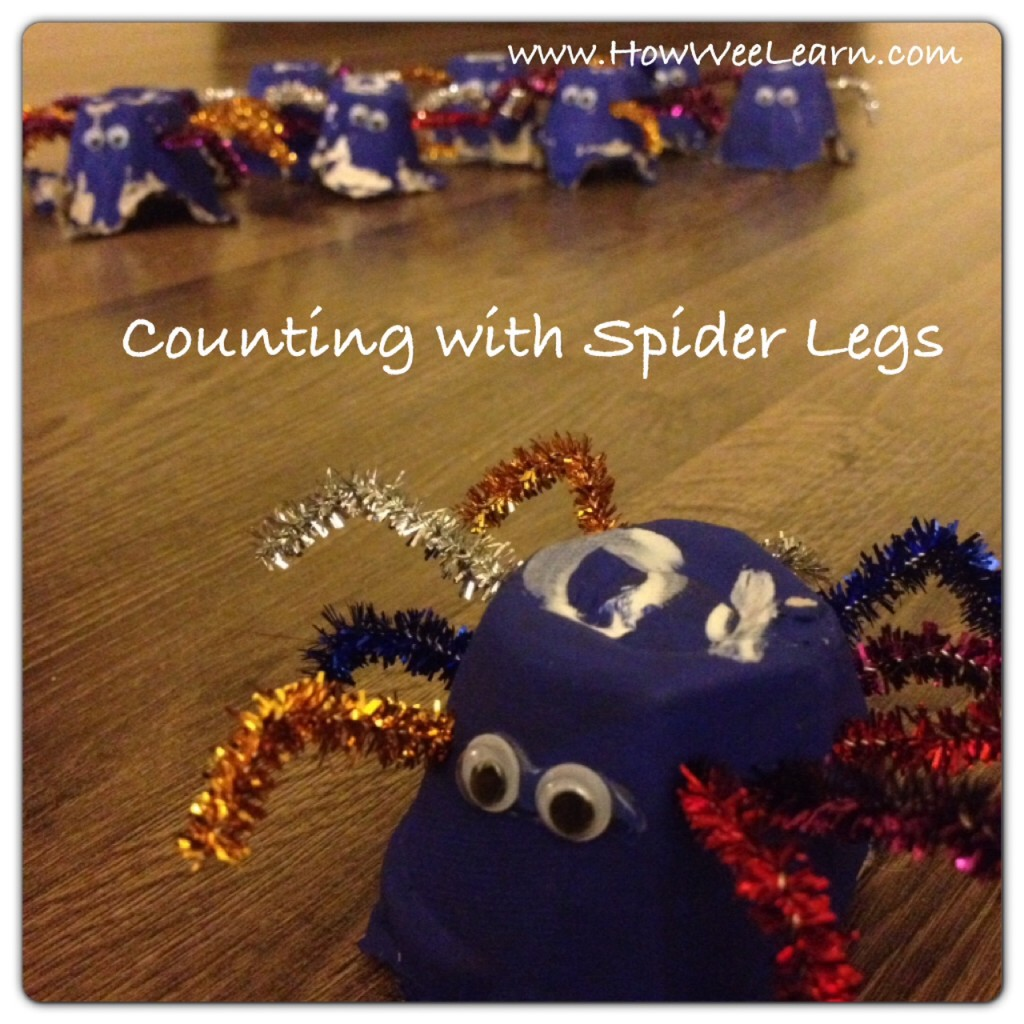spider legs counting games