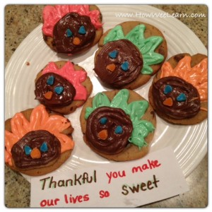 Thanksgiving Gift: Turkey Cookies