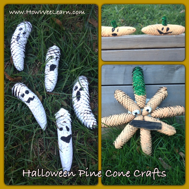Not So Spooky Pine Cone Crafts And Matching Poems How Wee