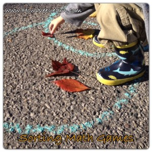 preschool corting math games