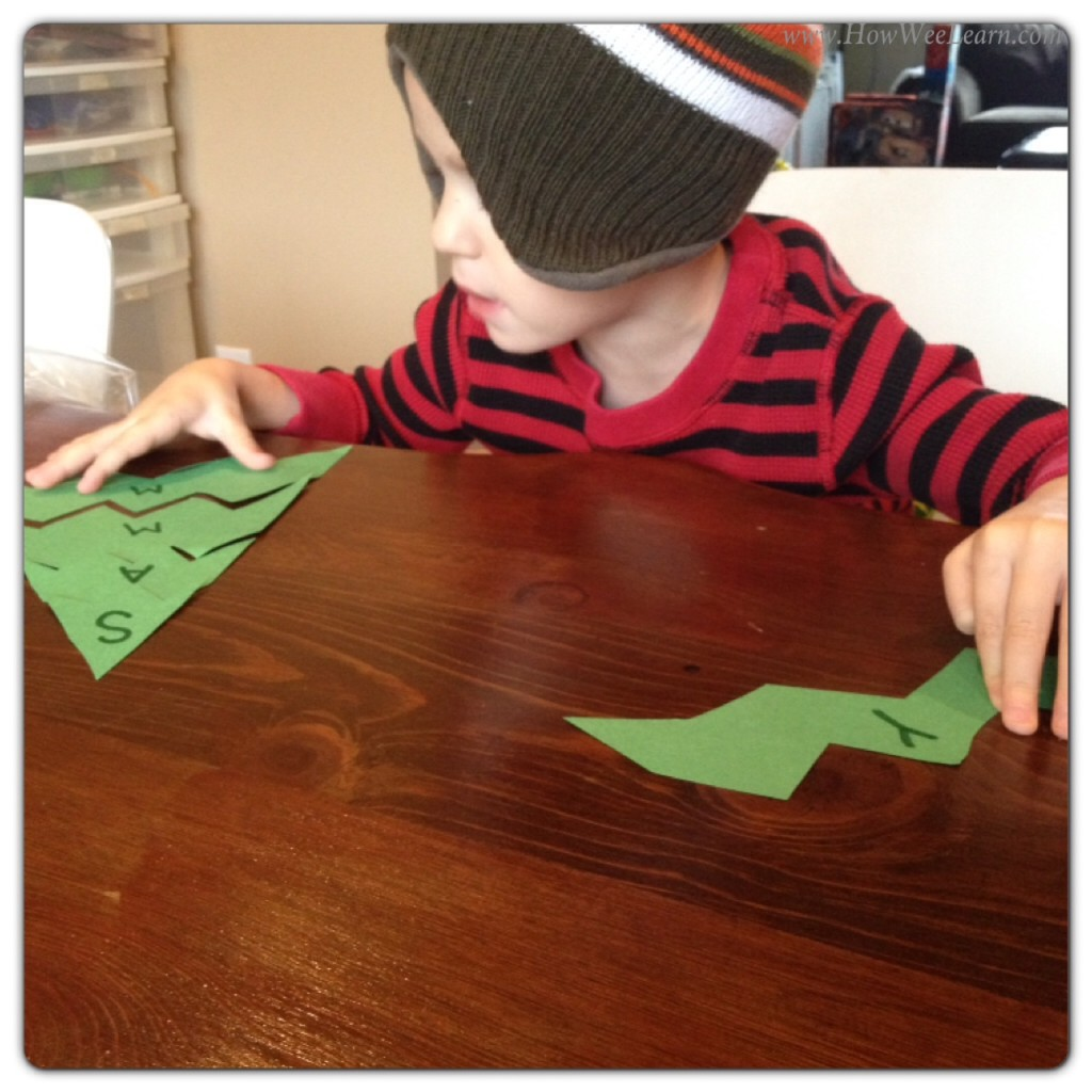Preschool Christmas Projects Christmas Tree Name Puzzles