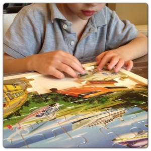 using puzzles as quiet time activities for kids