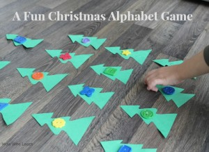 a fun and simple Christmas alphabet game for kids!
