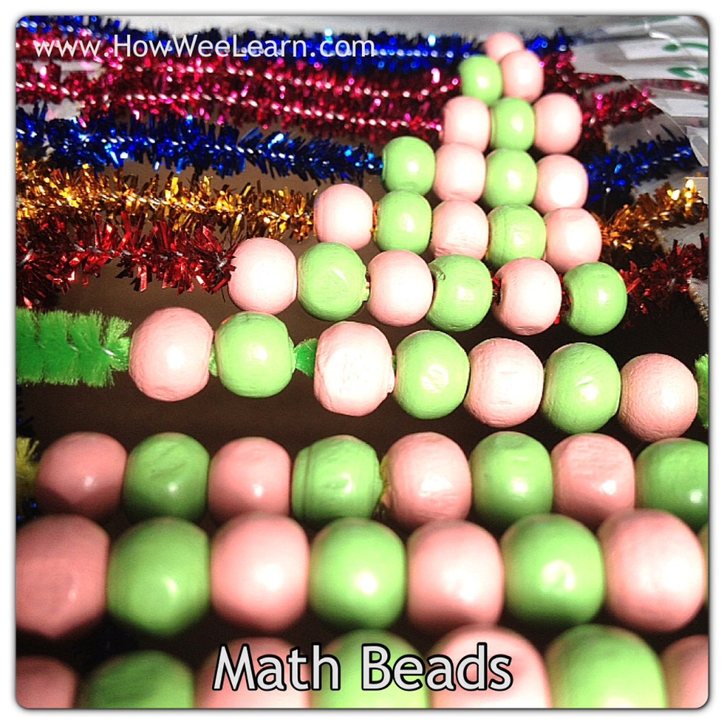 counting games for kids with math beads