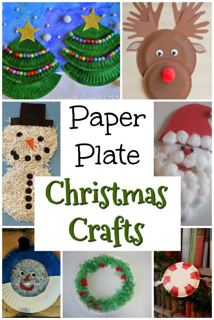 I just love a good paper plate craft, and these Christmas themed crafts are adorable! All from one paper plate! #christmas #holidaycrafts #christmascrafts #christmasart #paperplate #preschool #toddler