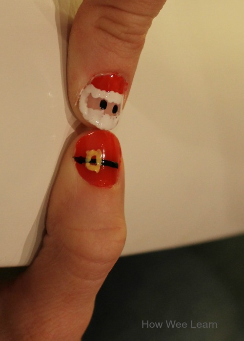 Santa Nail Design Adorable And Simple How Wee Learn