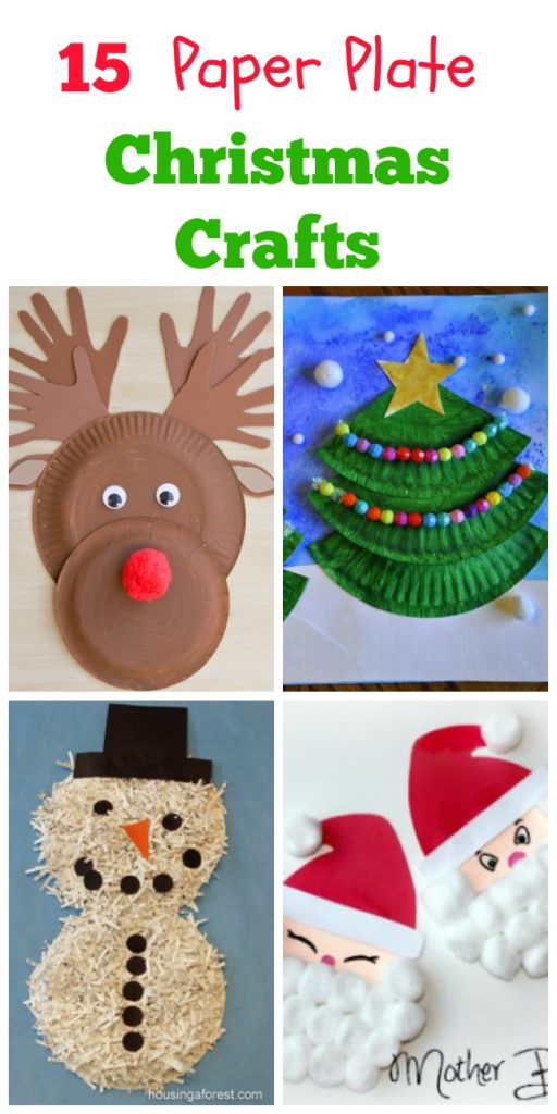 I love all these fun & simple christmas crafts made out of paper plates. So awesome for kids!
