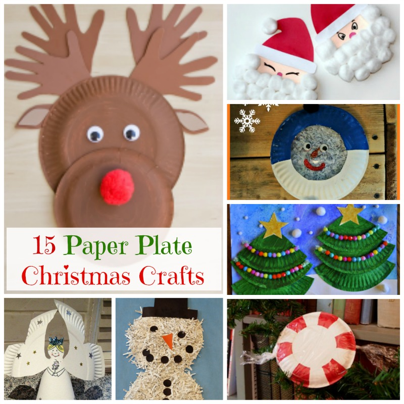 Easy and cute paper plate Christmas crafts for preschoolers! #easy #crafts #preschoolers #Christmas #paperplates