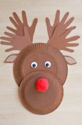 Paper plate Christmas crafts reindeer & Paper Plate Christmas Crafts - How Wee Learn