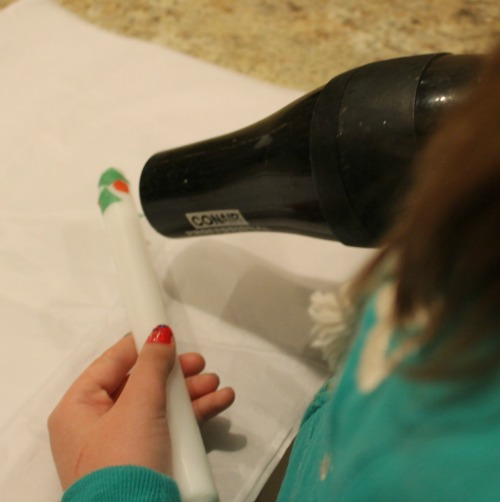 tissue paper candle craft for kids