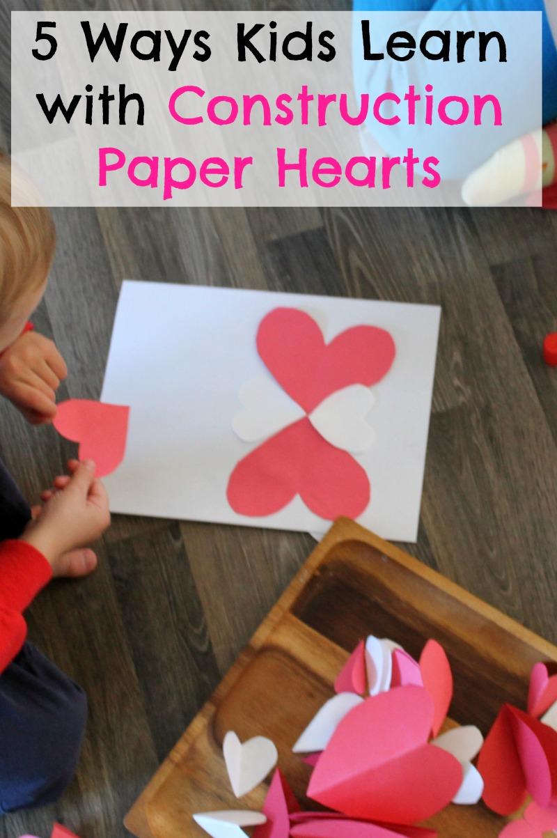 construction paper hearts