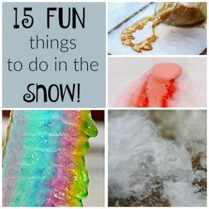 15 Fun Things to do in the Snow!