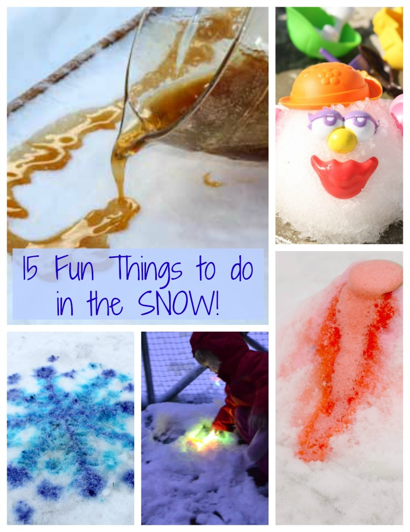 15 Fun And Easy Sewing Projects For Kids: 15 Fun Things To Do In The Snow!