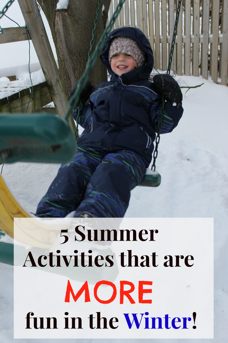 things to do in the snow with preschoolers