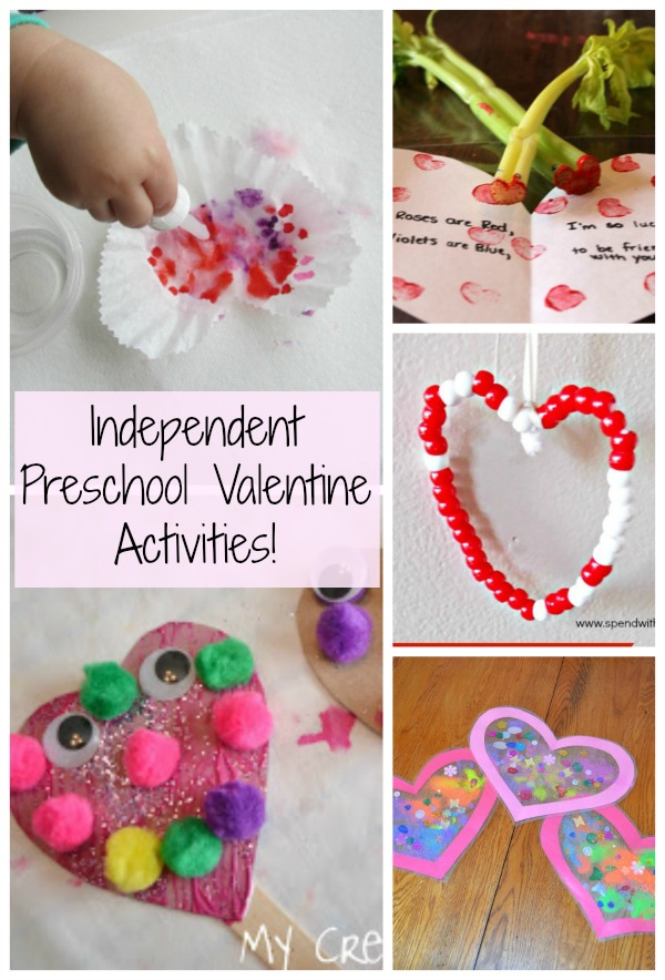 Independent valentine preschool activities how wee learn for Toddler valentine craft ideas