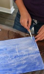 Winter Art Activity: Crayon Resist Winter Landscape