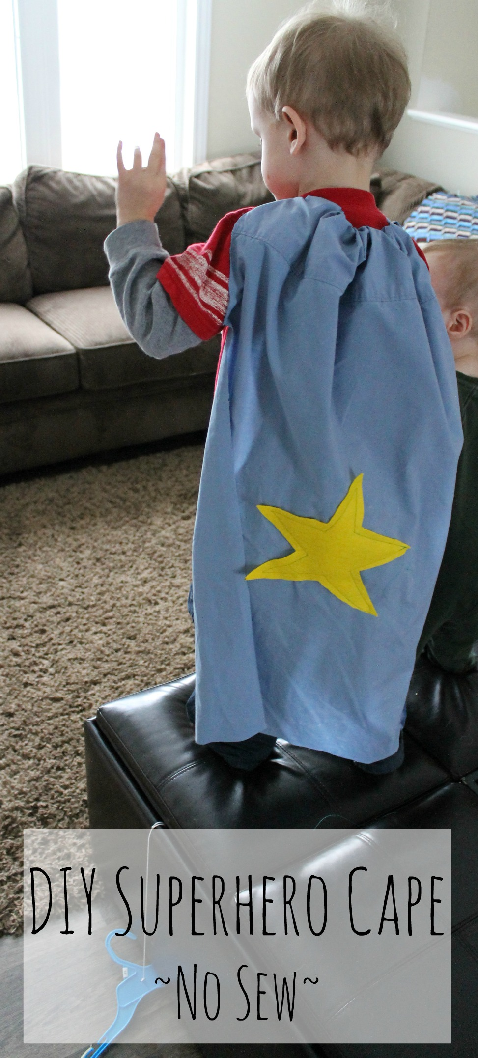 pillowcase for a DIY Superhero cape how we learn