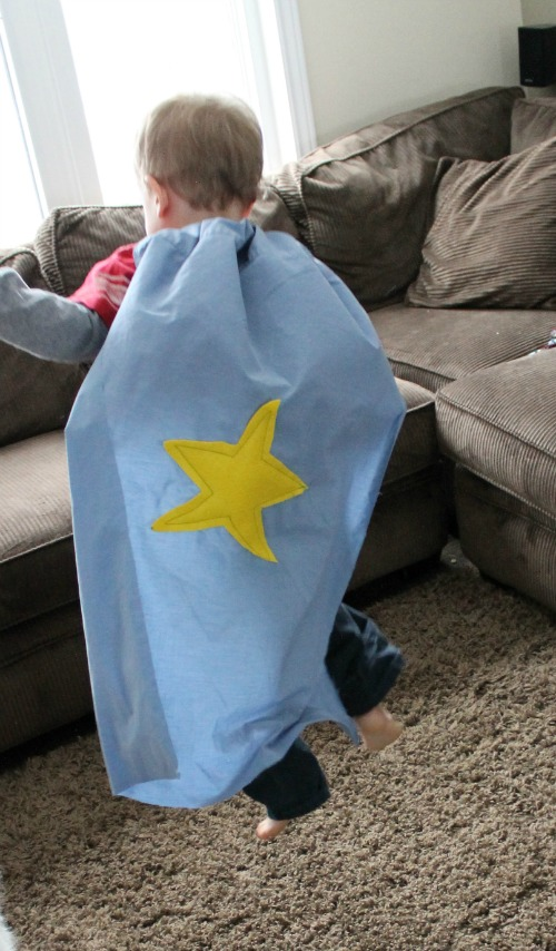 how we learn an easy homemade super hero cape