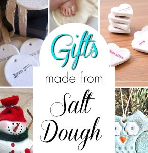 Homemade gifts for kids to make using salt dough! #saltdough #homemadegifts #christmasgifts #preschool #kids #holiday #crafts