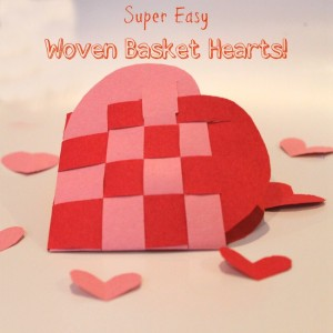 Simple woven heart basket how-to, with step-by-step pictures!