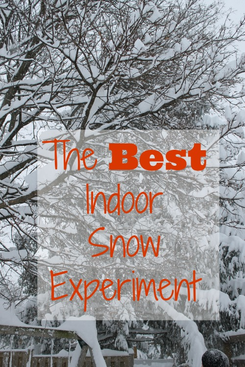 snow experiment for preschoolers