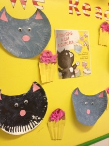cats made from painted paper plates