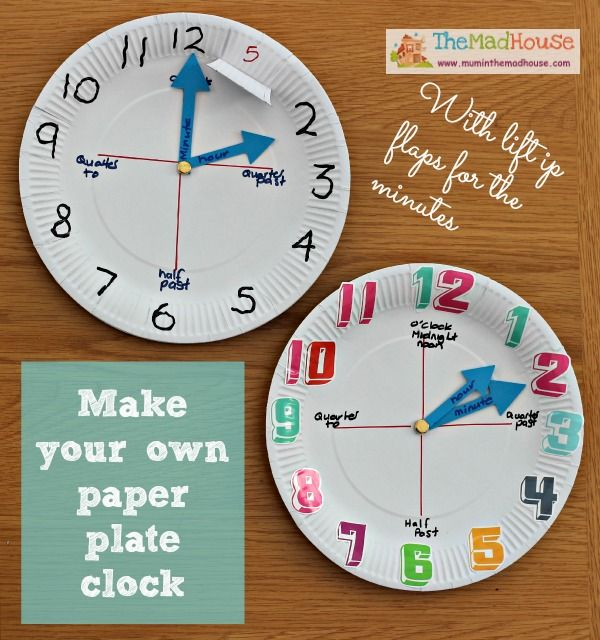 Clocks Made From Paper Plates