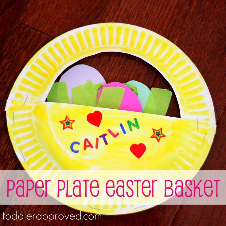 easter basket paper plates craft  sc 1 st  How Wee Learn : paper plate art - pezcame.com