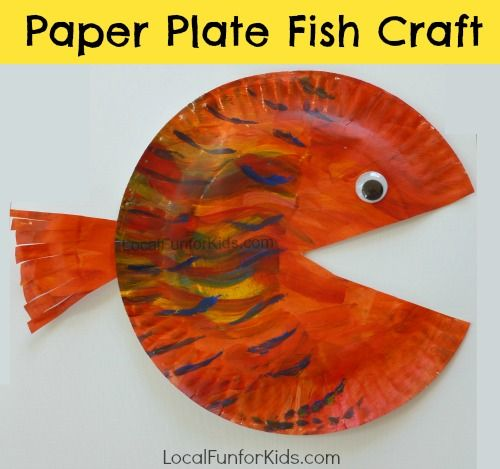 A Colorful Paper Plate Fish Craft