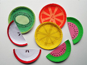 colourful fruit craft made from paper plates & 75 Simple Paper Plate Crafts for Every Occasion! - How Wee Learn