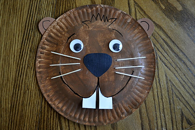 paper plate animal craft groundhog