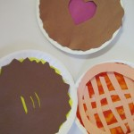 pies made by kids from paper plates