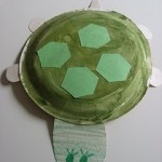 a turtle made from paper plates