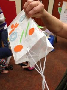 lunch bag kite spring craft