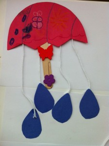 a rainy day preschool spring craft