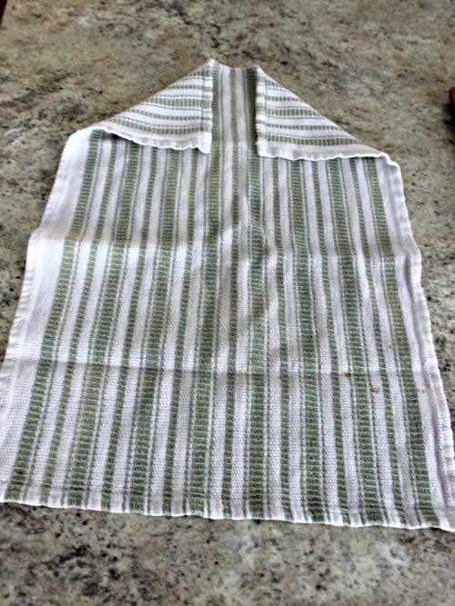 how to make a tea towel apron how we learn
