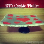 a cookie platter made from salt dough